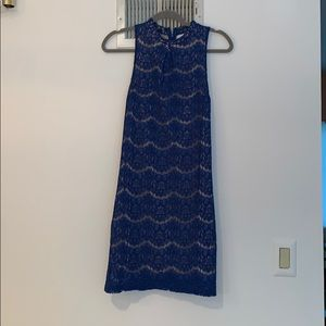 Beautiful blue and nude lace dress small